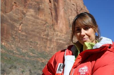 One Show presenter completes Sports Relief rockface challenge