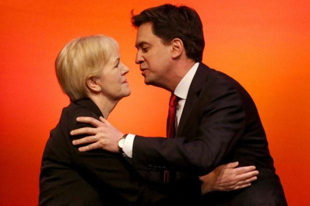 CALL TO ARMS: Labour leader Ed Miliband greets Scottish leader Johann Lamont before his speech.            Picture: Andrew Milligan/PA