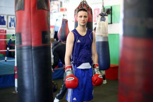 Josh Taylor will be well supported when he enters the ring on Friday   Photograph: Mark Mainz