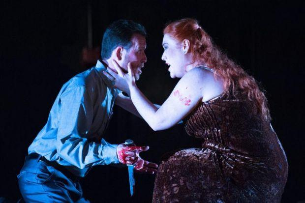 BLOOD ON THEIR HANDS: David Stephenson as Macbeth and Elisabeth Meister as Lady Macbeth as she stands by her man. Picture: Tommy Ga-Ken Wan.