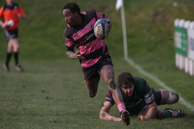 Carlin Isles embarks on a brilliant run, but fails to touch the ball down for a tryPhotograph: Steve Cox