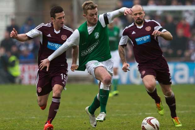 Hearts 2 Hibernian 0: Jambos avoid being relegated by derby rivals