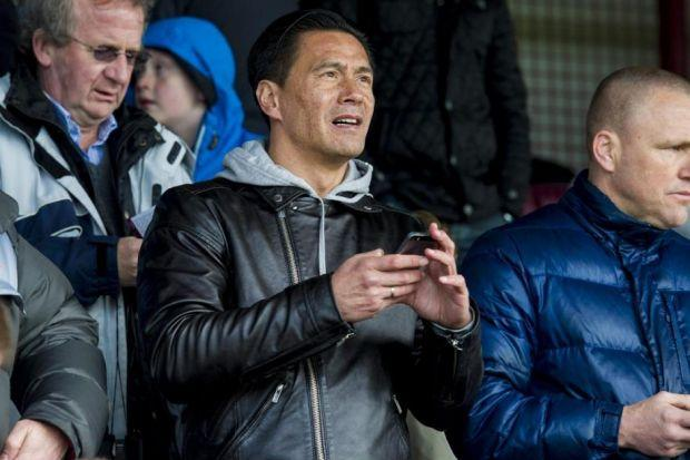 Michael Mols takes in Rangers' victory at Gayfield Park. Picture: SNS