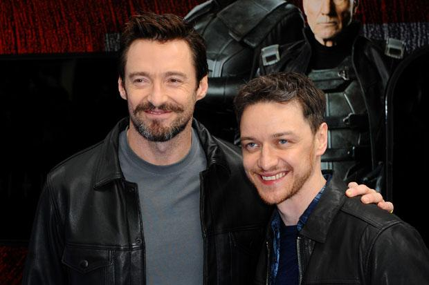 X-Men stars Hugh Jackman and James McAvoy have new starring role - on the side of a train