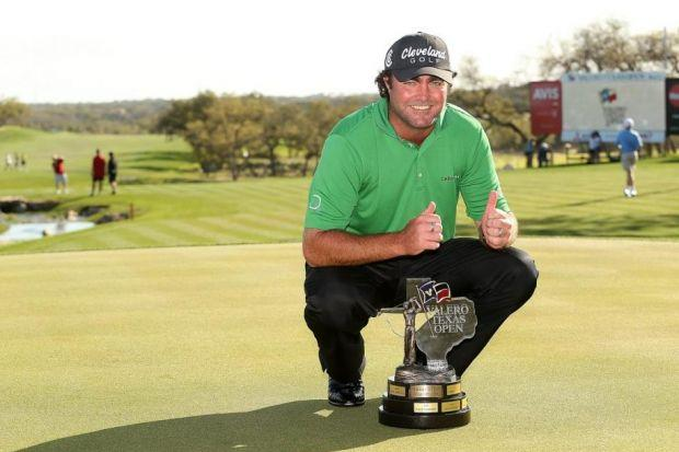 Steven Bowditch - the world No.339 - celebrates winning the Valero Texas Open, his maiden PGA Tour win. Picture: PA