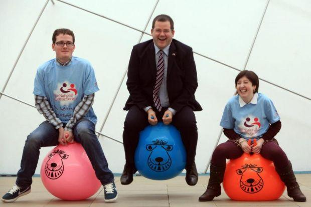 RAISING AWARENESS: MSP Mark McDonald is joined by Jordon Kirkwood and Laura Foley. Picture: Steve Cox
