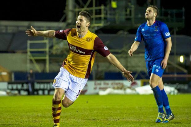 Motherwell were heading for an unwelcome draw when Iain Vigurs scored a late winner. Picture: SNS