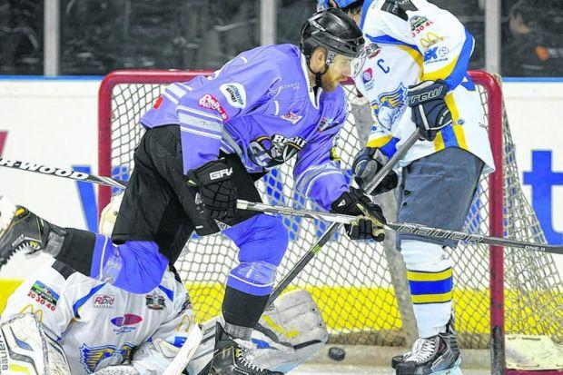 Tristan Harper scores for Braehead Clan as his side come back to win 7-6 yesterday. Picture: algooldphoto.com
