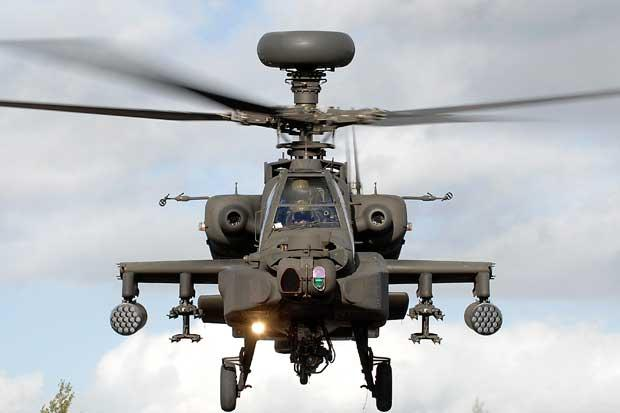 Army attack chopper makes forced landing in field