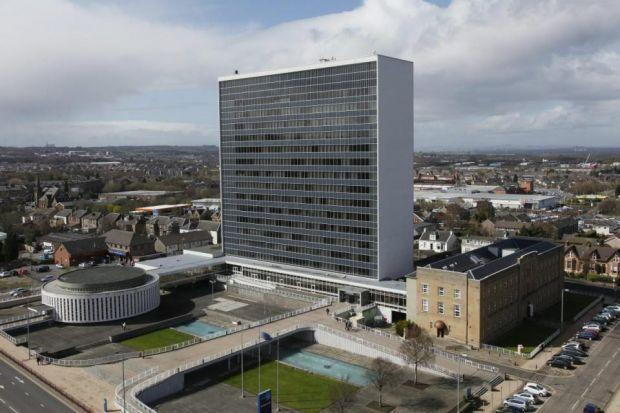 The South Lanarkshire Council was opened by the late Queen mother in 1964 and resembles the UN building.