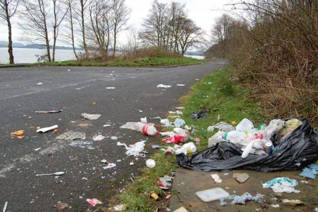 BLIGHT: Friends of Loch Lomond and the Trossachs have highlighted the mess along the banks of the A82.