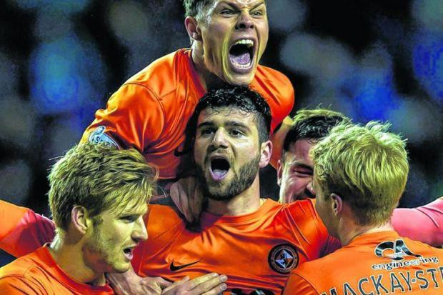 United striker Nadir Cifitci says today's match will be 'a nice game'. It probably won't. Picture: SNS