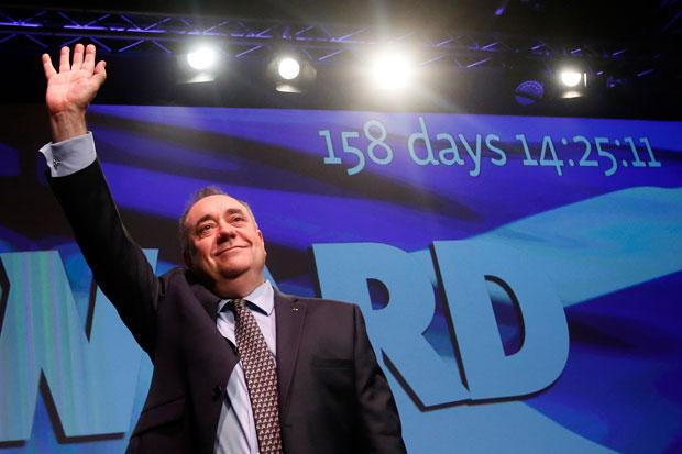 Salmond: the eyes of the world are on Scotland... it's time to say Yes