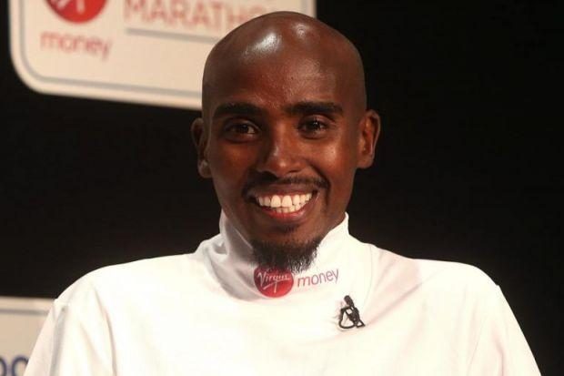 Mo Farah is looking forward to today's challenge Photograph: Getty
