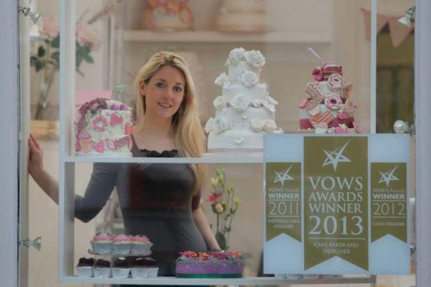 confection PERFECTION: Liggy Morgan, who took a chance on leaving university to set up her own cake-making business, and has never looked back