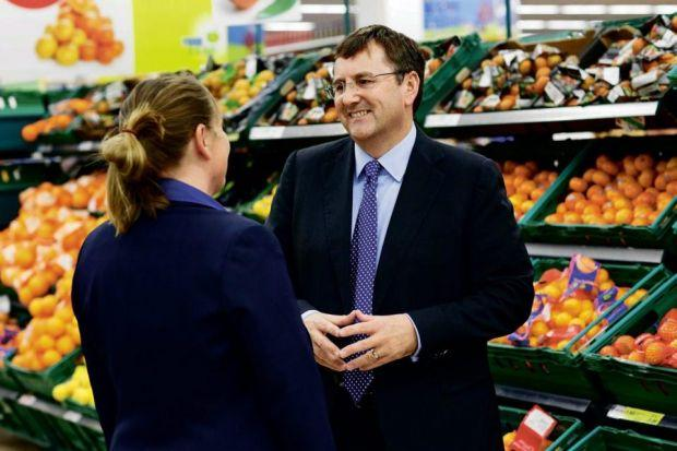 Top MAN: But Philip Clarke of Tesco could be replaced after a second year on the run of falling profits. Picture: Igor Emmerich.