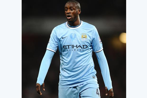 Manchester City's Toure out for up two weeks