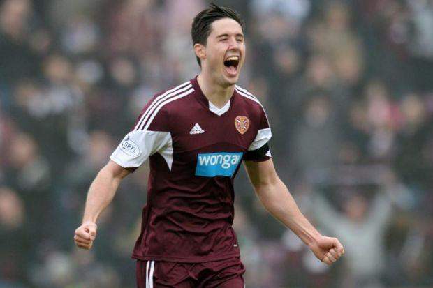 CHURCH CAMPAIGN: Hearts are sponsored by loan firm Wonga.