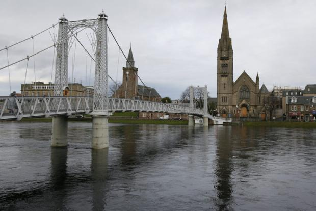 Inverness suffered a power blackout for 30 minutes