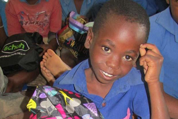 Mayamiko, the six-year-old who goes to school through your charity