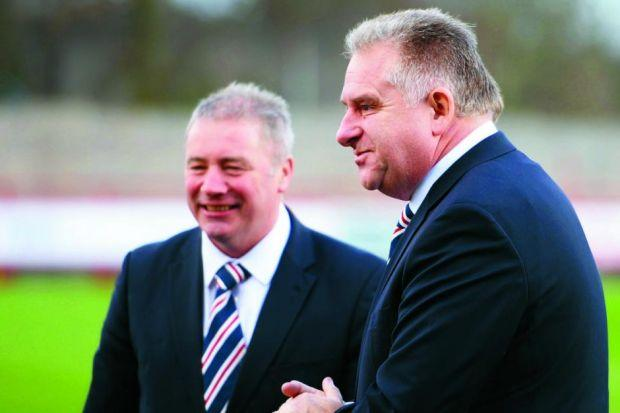 Ally McCoist says he hasn't had a preview of Graham Wallace's review of operations Photograph:SNS