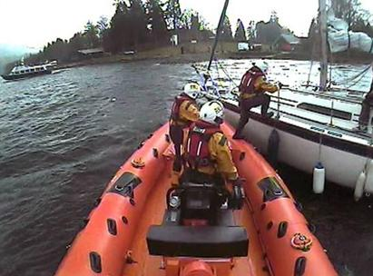 The RNLI craft were involved in a dramatic rescue