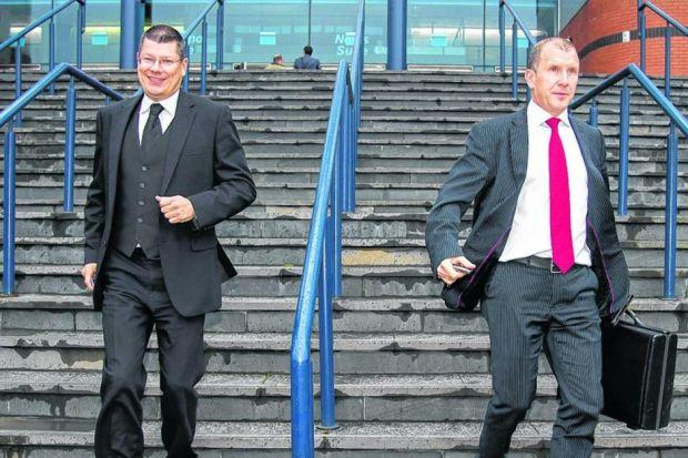 Doncaster and Regan were all smiles after the meeting yesterday. Picture: SNS