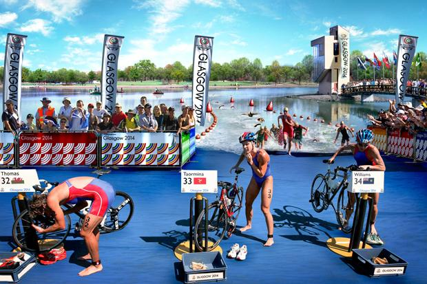 Triathlon: Strathclyde Park is tested ahead of the Games