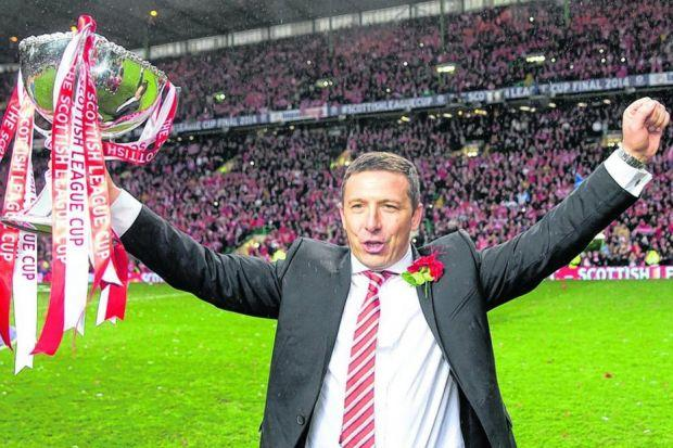 Derek McInnes was manager of the season after leading Aberdeen  to a first trophy in 19 years. Picture: PA
