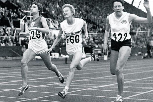 Rosemary Stirling, left, was first in the final of the 800m at the 1970 Commonwealth Games in Edinburgh, crossing the line just three hundredths of a second ahead of her rivals but enough to claim the gold medal. Picture: Herald Archive