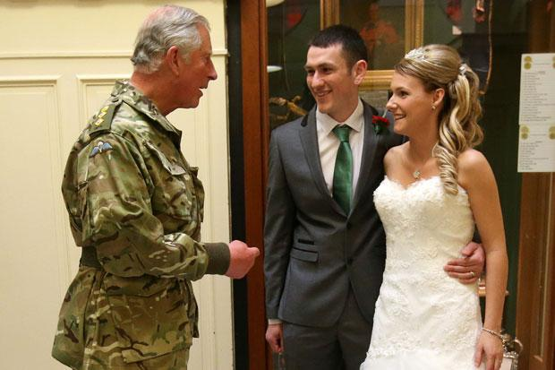A royal thumbs up: Ayr newlyweds meet Prince Charles on their big day