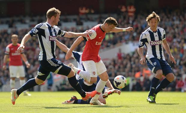 Arsenal 1 West Brom 0: Gunners coast to win in their last game of the season
