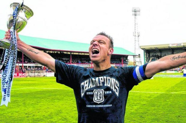 Gavin Rae is thinking about ending his playing career after the high of lifting the Championship trophy with Dundee. Picture: SNS