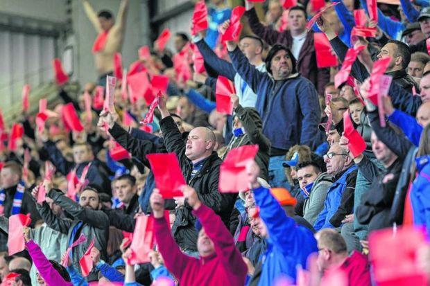 Ally McCoist applauds the travelling support after Saturday's draw. Picture: SNS
