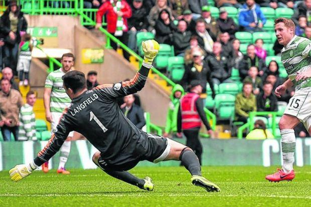 Kris Commons registered his 30th goal of the campaign for Celtic with a goal against Aberdeen. Picture: SNS