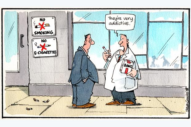 Camley's cartoon: on we shouldn't be too harsh on the users of e-cigarettes