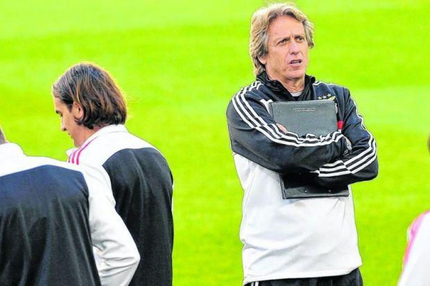 Jorge Jesus's obsession over details has led the Benfica coach to gesticulate at players over the slightest errors during games. Picture: EPA
