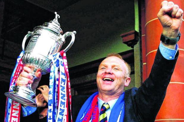 Alex McLeish collected seven trophies during five and a half years as Rangers manager. Picture: SNS