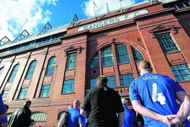 Rangers reiterated to the Union of Fans yesterday that Ibrox will not be handed over as security. Picture: SNS