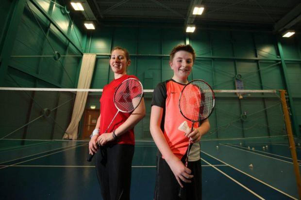 Badminton's Gilmour hits the courts with youngster to reward his fundraising efforts