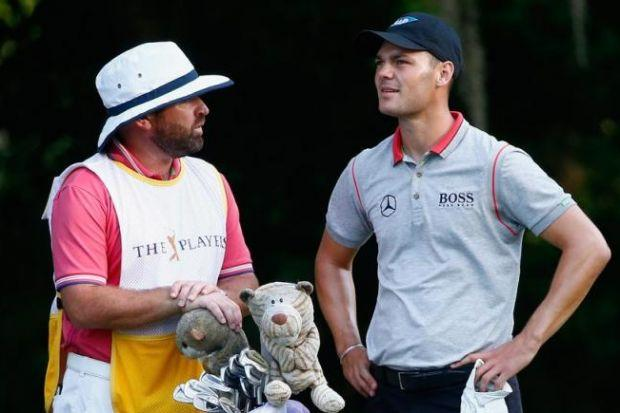 Kaymer and caddie Craig Connelly spent 13 months apart but the German says he was too serious without the Scot by his side.  Picture: Getty