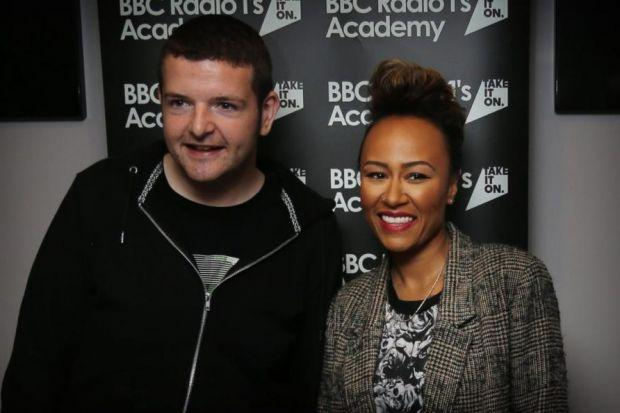 Kevin Bridges and Emeli Sandé meet fans at the Radio 1 Academy in Glasgow University's Queen Margaret Union yesterday, while top right, DJs Pops and Tigerstyle take over a class, and fans queue to get inPhotographs: Stewart Attwood