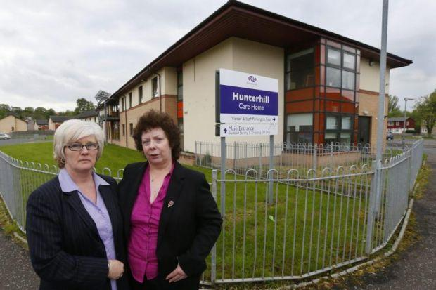 CONCERN: Liz Duff, left, and Kathleen Bryson fear their mothers will suffer if they leave Hunterhill Care Home in Paisley. Picture: Colin Mearns