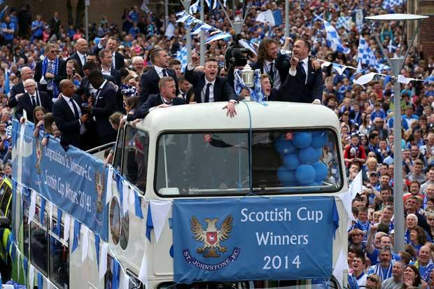 Scottish Cup Winners Parade in Perth