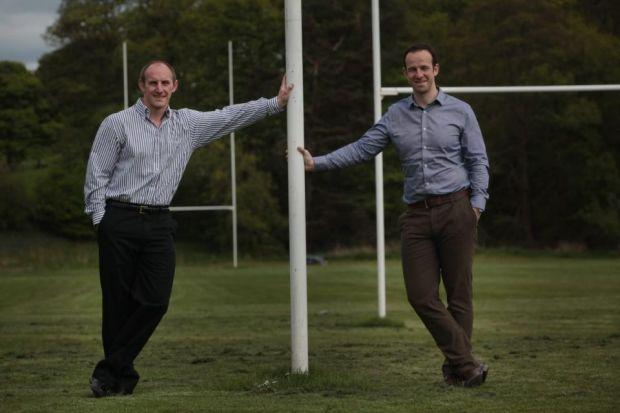 Entrepreneurs: Mark Cairns and Andy Muir have gone into business after becoming frustrated about the lack of products designed to support amateur sports teams and clubs. Picture: Steve Cox
