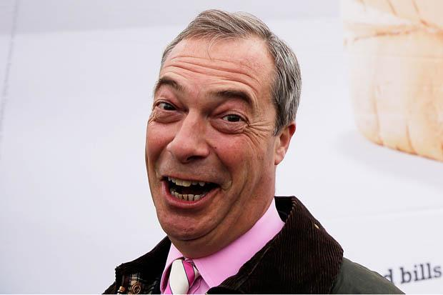 Slap Nigel Farage...on the face, or on the back