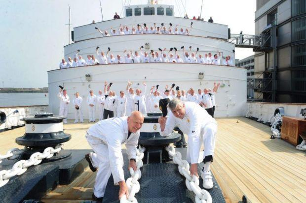 SHIP-SHAPE: The crew back on duty on the Royal Yacht Britannia. Pictures: Julie Howden