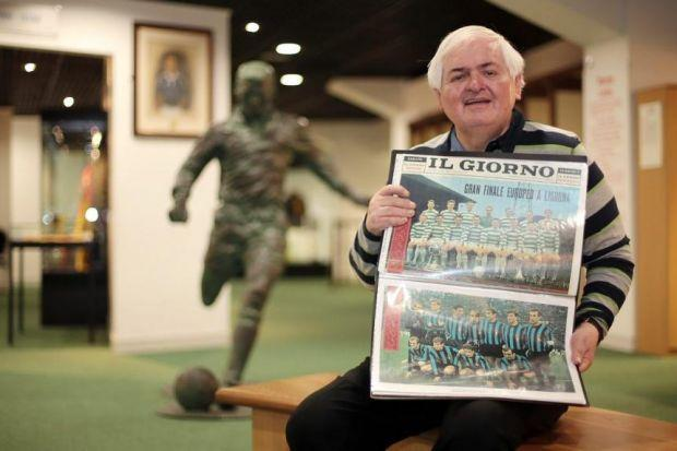 Pat Woods browses the memorabilia he has collected concerning Celtic's 1967 triumph. Picture: Mark Mainz