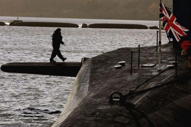 DETERRENT: A Yes vote, say the SNP, would see the end of Trident nuclear weapons in Scotland. Picture: Getty