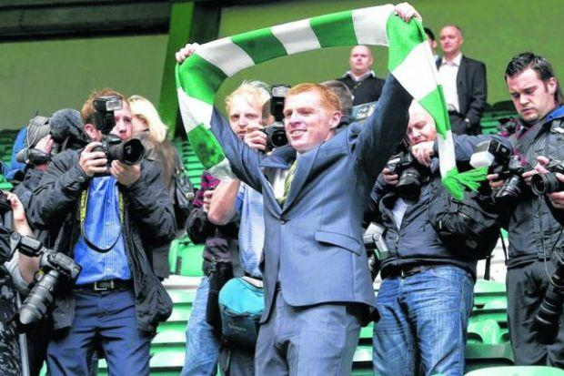 Flashback: Neil Lennon is unveiled as Celtic manager in 2010. Picture: SNS